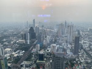 view of Bangkok from the Mahanakon building